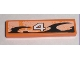 Part No: 2431pb135L  Name: Tile 1 x 4 with Number 4 Orange and Black Decorative Pattern Model Left (Sticker) - Set 8211