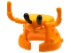 Part No: 25748pb01  Name: Minifigure, Headgear Mask Lobster Head with Long Antennae and Two Black Protruding Eyes Pattern