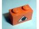 Part No: 3004pb022  Name: Brick 1 x 2 with Pumpkin Jack O' Lantern Eye Pattern