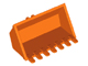 Part No: 30394  Name: Vehicle, Digger Bucket 7 Teeth 3 x 6 with Locking 2 Finger Hinge