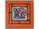 Part No: 3068bpb0511  Name: Tile 2 x 2 with Groove with Snail 'Gary' Portrait on Orange Background Pattern (Sticker) - Set 3818