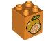 Part No: 31110pb086  Name: Duplo, Brick 2 x 2 x 2 with Oranges Pattern