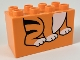 Part No: 31111pb043  Name: Duplo, Brick 2 x 4 x 2 with Tiger Feet Pattern