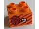Part No: 3437pb078  Name: Duplo, Brick 2 x 2 with Present / Gift with Bow and Stripes Pattern