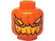 Part No: 3626bpb0277  Name: Minifig, Head with Pumpkin Jack O' Lantern Evil Pattern - Blocked Open Stud