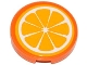 Part No: 4150pb158  Name: Tile, Round 2 x 2 with Orange Fruit Slice Pattern (Sticker) - Set 41035