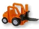 Part No: 42404c02  Name: Duplo Forklift Truck with Large and Small Black Wheels and Black Forklift Plate