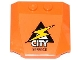 Part No: 45677pb072  Name: Wedge 4 x 4 x 2/3 Triple Curved with Lightning Bolt, 'CITY' and 'SERVICE' Pattern (Sticker) - Set 60054