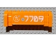 Part No: 52041pb004  Name: Crane Section 4 x 12 x 3 with 8 Pin Holes with '7709', Asian Character (Light 光) and Bullet Holes Pattern (Sticker) - Set 7709