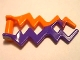 Part No: 59233pb03  Name: Wave Angular (Electric Zigzag, Castle Magic Spark) with Marbled Dark Purple Pattern