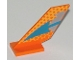 Part No: 6239px5  Name: Tail Shuttle with Blue Arrow, Dot Fade Pattern