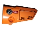 Part No: 64391pb045  Name: Technic, Panel Fairing # 4 Small Smooth Long, Side B with Hatch and Fuel Hatch on Orange Background Pattern (Sticker) - Set 42038