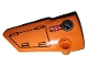 Part No: 64683pb045  Name: Technic, Panel Fairing # 3 Small Smooth Long, Side A with Hatch and Fuel Hatch on Orange Background Pattern (Sticker) - Set 42038