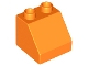 Part No: 6474  Name: Duplo, Brick 2 x 2 Slope 45