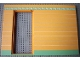 Part No: 6890pb03c03  Name: Scala Wall, Vertical Grooved 40 x 2 x 22 2/3 with Door, with Orange and Green Stripes Pattern