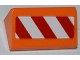 Part No: 85984pb009R  Name: Slope 30 1 x 2 x 2/3 with Red and White Danger Stripes Pattern Model Right Side (Sticker) - Set 4434