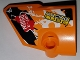 Part No: 87080pb037  Name: Technic, Panel Fairing # 1 Small Smooth Short, Side A with 'RACING LUBE' and 'GRF-X DSIGN' and Black, Orange and White Pattern (Sticker) - Set 42007