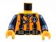 Part No: 973pb0302c01  Name: Torso Rescue Coast Guard Logo Pattern / Dark Blue Arms / Orange Hands