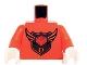 Part No: 973pb1167c01  Name: Torso MBA Level 3 Logo Pattern / Orange Arms / White Hands