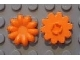 Part No: clikits020u  Name: Clikits Icon, Flower 10 Petals 2 x 2 Large with Pin (Undetermined version)
