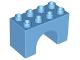 Part No: 11198  Name: Duplo, Brick 2 x 4 x 2 Arch