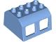 Part No: 13530  Name: Duplo, Train Locomotive Cabin Roof 2 x 4 Studs, 4 Medium Windows