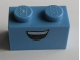Part No: 3004pb102  Name: Brick 1 x 2 with Smiling Mouth Pattern (Guido)