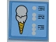 Part No: 3068bpb0489  Name: Tile 2 x 2 with Ice Cream Cone and Menu Pattern (Sticker) - Set 3816