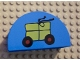 Part No: 31213pb005  Name: Duplo, Brick 2 x 4 x 2 Curved Top with Package on Wheels Pattern
