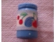 Part No: 33011cpb06  Name: Scala Accessories Jar Jam / Jelly, Label with Strawberry, Plums and Cherries Pattern (Sticker) - Set 3115