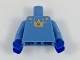 Part No: 973pb3078c01  Name: Torso with Gold Stars and Crown with Red Hourglass Pattern / Medium Blue Arms / Blue Hands