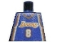 Part No: 973bpb182  Name: Torso NBA Los Angeles Lakers #8 (Road Jersey) Pattern