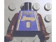 Part No: 973bpb182c01  Name: Torso NBA Los Angeles Lakers #8 (Road Jersey) Pattern / Brown NBA Arms