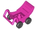 Part No: 2147c02  Name: Duplo Pram (Baby Carriage, Stroller) with Black Wheels, New Style Complete Assembly