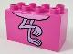 Part No: 31111pb055  Name: Duplo, Brick 2 x 4 x 2 with Flamingo Feet Pattern