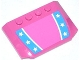 Part No: 52031pb068  Name: Wedge 4 x 6 x 2/3 Triple Curved with Blue Stripes with Stars Pattern (Sticker) - Set 70804