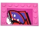Part No: 6180pb068L  Name: Tile, Modified 4 x 6 with Studs on Edges with Graffiti Tag Pattern Model Left Side (Sticker) - Set 79104