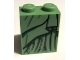 Part No: 3678bpb043  Name: Slope 65 2 x 2 x 2 with Bottom Tube with Black and Dark Green Robe Pattern (Lady Liberty)