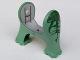 Part No: 40380c01pb01  Name: Dinosaur Legs Short, Set 6719 Pattern - Dark Gray and Dark Green Stripes