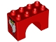 Part No: 11198pb02  Name: Duplo, Brick 2 x 4 x 2 Arch with Dog Paws and Bone Collar Pattern