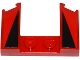 Part No: 11291pb03  Name: Wedge 3 x 4 x 2/3 Cutout with 2 Black Triangles on Red Background Pattern (Stickers) - Set 75899