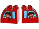 Lot ID: 169538169  Part No: 11344pb004  Name: Duplo, Brick 2 x 3 x 2 with Curved Top and 2 Windows with Girl / Boy Pattern