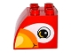 Part No: 11344pb005  Name: Duplo, Brick 2 x 3 x 2 with Curved Top and with Bird Head Pattern on Both Sides