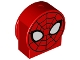 Part No: 14222pb006  Name: Duplo, Brick 1 x 3 x 2 Round Top, Cut Away Sides with Spider-Man Face Pattern