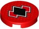 Part No: 14769pb193  Name: Tile, Round 2 x 2 with Bottom Stud Holder with Black and Red Diamonds Pattern