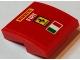 Part No: 15068pb114  Name: Slope, Curved 2 x 2 No Studs with 'PIRELLI', 'FIAT', Ferrari Logo and Italian Flag Pattern (Sticker) - Set 75913
