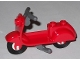 Part No: 15396c04  Name: Scooter with Dark Bluish Gray Stand and Dark Bluish Gray Handlebars - Complete Assembly