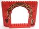 Part No: 15626pb05  Name: Panel 4 x 16 x 10 with Ninjago Asian Arch and Dragon Head Door Knocker Pattern