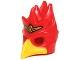 Part No: 16656pb03  Name: Minifigure, Headgear Mask Bird (Phoenix) with Yellow Beak and Small Gold Headpiece Pattern