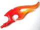Part No: 18396pb01  Name: Wave Rounded Double with Axle (Flame) with Marbled Bright Light Orange Pattern